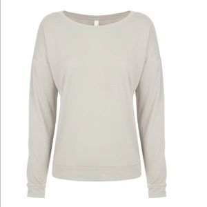 Women's Terry Long Sleeve Scoop neck sweetheart
